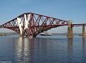 Firth of Forth Railway Bridge with QM2