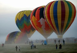 Ballons in the Mist