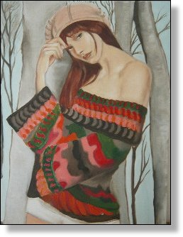 Young Woman Oil 24X30