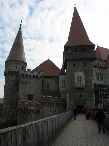 Entrance to Hunedoara Castle