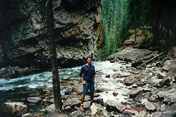 me at Johnston Canyon, Alberta Canada