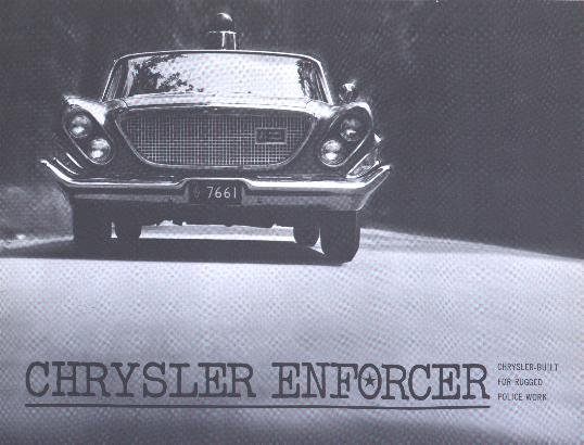 Misc - Chrysler Enforcer brochure cover