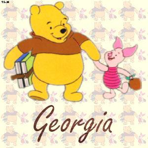 Pooh & Piglet at schoolGeorgia