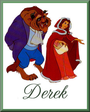 Belle & Beast out for ChristmasDerek