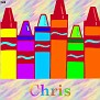 Crayons at schoolChris