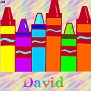 Crayons at schoolDavid