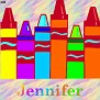 Crayons at schoolJennifer