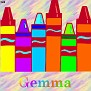 Crayons at schoolGemma