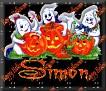 3 Ghosts & pumpkinSimon