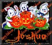 3 Ghosts & pumpkinJoshua