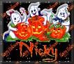 3 Ghosts & pumpkinNicky