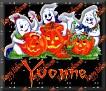 3 Ghosts & pumpkinYvonne