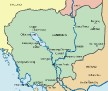 Lonely Planet Map of Cambodia
