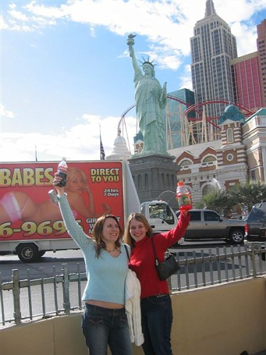 Statue of Liberty and Hot Babes (...truck in the background)