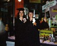 Lori Halpern & Lenore Salvio at Graduation in 1973