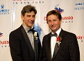 "Mr. Budd Mishkin, ""One on One"" Host/Reporter for NY1's weekly profile series; Master of Ceremonies and Mr. Ioori Smirnov"