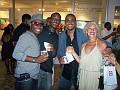 Actor, singer Youri Jean-Pierre,Gamal Jolicoeur, Jamaican promoter Robert Lawrence, Carole Merceron.