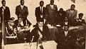 Jean Claude Duvalier prêtant serment.