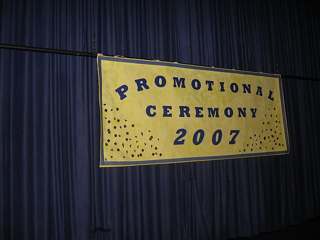 For the up coming Graduation on June 26th 2007