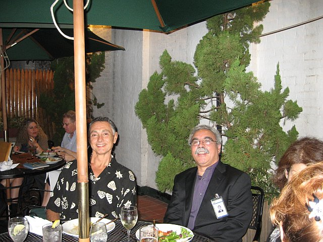 Daniel Ocasio & Howard Kaplan with Rhonda [Levine] Zwillinger in the background