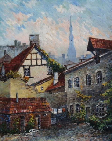 Yard in ancient Tallinn