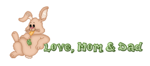Love, Mom & Dad - BunnyWithCarrot
