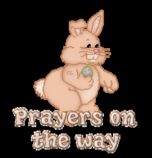 Prayers on the way - BunnyWithEgg