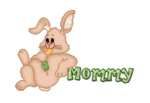 Mommy - BunnyWithCarrot