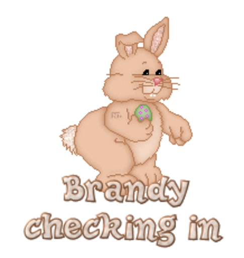 Brandy checking in - BunnyWithEgg