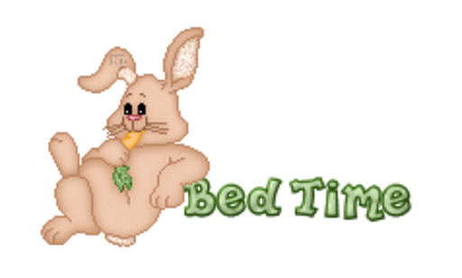 Bed Time - BunnyWithCarrot