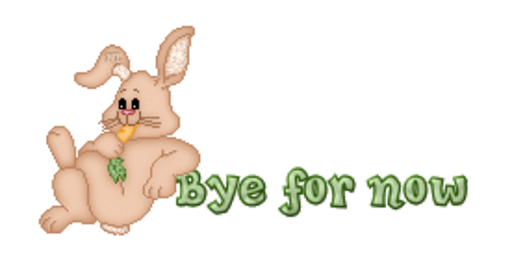 Bye for now - BunnyWithCarrot