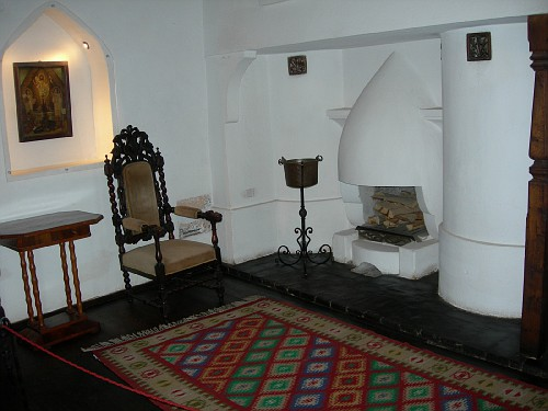 Fireplace at Bran Castle