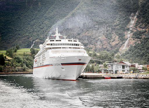 Cruise ship Europa at Flam