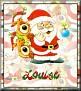 Santa with friendsTaLouise