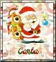 Santa with friendsTaCarla