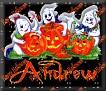 3 Ghosts & pumpkinAndrew