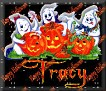 3 Ghosts & pumpkinTracy