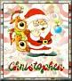 Santa with friendsTaChristopher